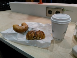 Delicious airport food in Stockholm
